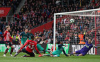 SOUTHAMPTON, ENGLAND - MARCH 09: Yan Valery's goal during the Premier League match between Southampton FC and Tottenham Hotspur at St Mary's Stadium on March 9, 2019 in Southampton, United Kingdom. (Photo by Chris Moorhouse/Southampton FC via Getty Images)