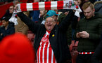 SOUTHAMPTON, ENGLAND - MARCH 09: Saints fans during the Premier League match between Southampton FC and Tottenham Hotspur at St Mary's Stadium on March 09, 2019 in Southampton, United Kingdom. (Photo by Matt Watson/Southampton FC via Getty Images)