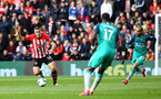 SOUTHAMPTON, ENGLAND - MARCH 09:  Oriol Romeu of Southampton FC (left) during the Premier League match between Southampton FC and Tottenham Hotspur at St Mary's Stadium on March 09, 2019 in Southampton, United Kingdom. (Photo by James Bridle - Southampton FC/Southampton FC via Getty Images)