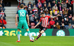 SOUTHAMPTON, ENGLAND - MARCH 09:  Pierre-Emile Hojbjerg of Southampton (right) during the Premier League match between Southampton FC and Tottenham Hotspur at St Mary's Stadium on March 09, 2019 in Southampton, United Kingdom. (Photo by James Bridle - Southampton FC/Southampton FC via Getty Images)
