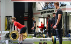 Josh Sims during a Southampton gym session, at the Staplewood Campus, Southampton, 12th March 2019