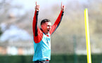 SOUTHAMPTON, ENGLAND - MARCH 13: Pierre-Emile Hojbjerg during a Southampton FC training session at the Staplewood Campus on March 13, 2019 in Southampton, England. (Photo by Matt Watson/Southampton FC via Getty Images)