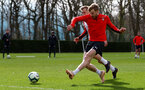 SOUTHAMPTON, ENGLAND - MARCH 13: Stuart Armstrong during a Southampton FC training session at the Staplewood Campus on March 13, 2019 in Southampton, England. (Photo by Matt Watson/Southampton FC via Getty Images)