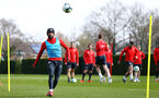SOUTHAMPTON, ENGLAND - MARCH 13: Nathan Redmond during a Southampton FC training session at Staplewood Complex on March 13, 2019 in Southampton, England. (Photo by James Bridle - Southampton FC/Southampton FC via Getty Images)