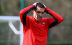 SOUTHAMPTON, ENGLAND - MARCH 13: Oriol Romeu during a Southampton FC training session at Staplewood Complex on March 13, 2019 in Southampton, England. (Photo by James Bridle - Southampton FC/Southampton FC via Getty Images)