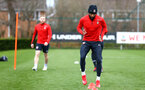 SOUTHAMPTON, ENGLAND - MARCH 13: Nathan Redmond (right) during a Southampton FC training session at Staplewood Complex on March 18, 2019 in Southampton, England. (Photo by James Bridle - Southampton FC/Southampton FC via Getty Images)
