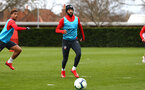 SOUTHAMPTON, ENGLAND - MARCH 13: Nathan Redmond (middle) during a Southampton FC training session at Staplewood Complex on March 18, 2019 in Southampton, England. (Photo by James Bridle - Southampton FC/Southampton FC via Getty Images)