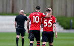 Charlie Austin and Callum Slattery during a friendly match between Southampton and QPR, at the Staplewood Campus, Southampton, 20th March 2019