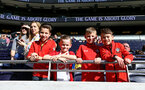 LONDON, ENGLAND - MARCH 24: Young Southampton FC fans ahead of the U18s Premier League match between Tottenham Hot Spur vs Southampton FC at Tottenham Hotspur Stadium on March 24, 2019 in London, England. (Photo by James Bridle - Southampton FC/Southampton FC via Getty Images)