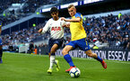 LONDON, ENGLAND - MARCH 24:  Kornelius Hansen (right) during the U18s Premier League match between Tottenham Hot Spur and Southampton FC at Tottenham Hotspur Stadium on March 24, 2019 in London, England. (Photo by James Bridle - Southampton FC/Southampton FC via Getty Images)