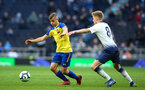 LONDON, ENGLAND - MARCH 24:  Kornelius Hansen (left) during the U18s Premier League match between Tottenham Hot Spur and Southampton FC at Tottenham Hotspur Stadium on March 24, 2019 in London, England. (Photo by James Bridle - Southampton FC/Southampton FC via Getty Images)