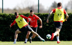 SOUTHAMPTON, ENGLAND - MARCH 27: Charlie Austin during a Southampton FC training session at the Staplewood Campus on March 27, 2019 in Southampton, England. (Photo by Matt Watson/Southampton FC via Getty Images)