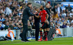 BRIGHTON, ENGLAND - MARCH 30: Ralph Hasenhuttl(L) and Nathan Redmond of Southampton during the Premier League match between Brighton & Hove Albion and Southampton FC at American Express Community Stadium on March 30, 2019 in Brighton, United Kingdom. (Photo by Matt Watson/Southampton FC via Getty Images)