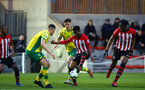 SOUTHAMPTON, ENGLAND - APRIL 05:  Nathan Tella (middle) during the U23's PL2 match between Southampton FC and Norwich City pictured at Staplewood Complex on April 05, 2019 in Southampton, England. (Photo by James Bridle - Southampton FC/Southampton FC via Getty Images)