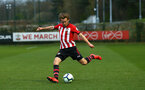 SOUTHAMPTON, ENGLAND - APRIL 05:  Jake Vokins  during the U23's PL2 match between Southampton FC and Norwich City pictured at Staplewood Complex on April 05, 2019 in Southampton, England. (Photo by James Bridle - Southampton FC/Southampton FC via Getty Images)