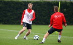 SOUTHAMPTON, ENGLAND - APRIL 09: Josh Sims during a training session at the Staplewood Campus on April 09, 2019 in Southampton, England. (Photo by Matt Watson/Southampton FC via Getty Images)