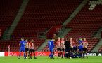 SOUTHAMPTON, ENGLAND - APRIL 10: Harry Hablin is given a Red Card as players dispute the decision during the International PL Cup match between Southampton FC and Dinamo Zagreb, pictured at St. Mary's Stadium on April 10, 2019 in Southampton, England. (Photo by James Bridle - Southampton FC/Southampton FC via Getty Images) (Photo by James Bridle - Southampton FC/Southampton FC via Getty Images)