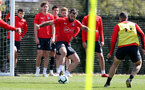 SOUTHAMPTON, ENGLAND - APRIL 11: Charlie Austin during a Southampton FC training session at the Staplewood Campus on April 11, 2019 in Southampton, England. (Photo by Matt Watson/Southampton FC via Getty Images)