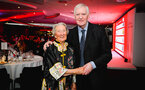 SOUTHAMPTON, ENGLAND - APRIL 12: Lawrie McMenemy (right) with Janet (left) during the Southampton FC Foundation Charity Dinner pictured at St Marys Stadium on April 12, 2019 in Southampton, England. (Photo by James Bridle - Southampton FC/Southampton FC via Getty Images)