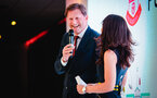 SOUTHAMPTON, ENGLAND - APRIL 12: Ralph Hasenhuttl (left) with Kenzie Benali (right) during the Southampton FC Foundation Charity Dinner pictured at St Marys Stadium on April 12, 2019 in Southampton, England. (Photo by James Bridle - Southampton FC/Southampton FC via Getty Images)
