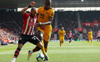 SOUTHAMPTON, ENGLAND - APRIL 13: Nathan Redmond during the Premier League match between Southampton FC and Wolverhampton Wanderers at St Mary's Stadium on April 13, 2019 in Southampton, United Kingdom. (Photo by Chris Moorhouse/Southampton FC via Getty Images)