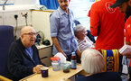 SOUTHAMPTON, ENGLAND - APRIL 17: of Southampton FC visits Southampton General Hospital pictured with patients and staff on April 17, 2019 in Southampton, England. (Photo by James Bridle - Southampton FC/Southampton FC via Getty Images)