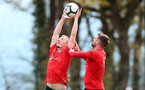 SOUTHAMPTON, ENGLAND - APRIL 18: James Ward-Prowse(L) and Jack Stephens during a Southampton FC training session at the Staplewood Campus on April 18, 2019 in Southampton, England. (Photo by Matt Watson/Southampton FC via Getty Images)
