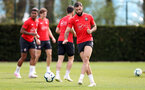 SOUTHAMPTON, ENGLAND - APRIL 18: Charlie Austin during a Southampton FC training session at the Staplewood Campus on April 18, 2019 in Southampton, England. (Photo by Matt Watson/Southampton FC via Getty Images)