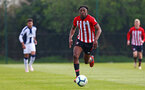 WEST BROMWICH, ENGLAND - APRIL 18: Dan Nlundulu  (middle) during the Under 23s PL2 match between West Bromwich and Southampton FC pictured on April 18, 2019 in West Bromwich, England. (Photo by James Bridle - Southampton FC/Southampton FC via Getty Images)