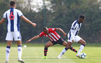 WEST BROMWICH, ENGLAND - APRIL 18: Tyreke Johnson of Southampton (middle) during the Under 23s PL2 match between West Bromwich and Southampton FC pictured on April 18, 2019 in West Bromwich, England. (Photo by James Bridle - Southampton FC/Southampton FC via Getty Images)