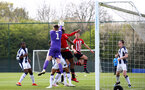 WEST BROMWICH, ENGLAND - APRIL 18: Will Ferry takes a corner kick for Southampton FC during the Under 23s PL2 match between West Bromwich and Southampton FC pictured on April 18, 2019 in West Bromwich, England. (Photo by James Bridle - Southampton FC/Southampton FC via Getty Images)