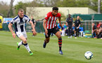 WEST BROMWICH, ENGLAND - APRIL 18: Marcus Barnes (right) during the Under 23s PL2 match between West Bromwich and Southampton FC pictured on April 18, 2019 in West Bromwich, England. (Photo by James Bridle - Southampton FC/Southampton FC via Getty Images)