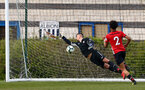 WEST BROMWICH, ENGLAND - APRIL 18: Southampton conceed a goal with Jack Rose in goal (left) during the Under 23s PL2 match between West Bromwich and Southampton FC pictured on April 18, 2019 in West Bromwich, England. (Photo by James Bridle - Southampton FC/Southampton FC via Getty Images)