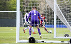WEST BROMWICH, ENGLAND - APRIL 18: Will Ferry of Southampton takes a shot on goal (right) during the Under 23s PL2 match between West Bromwich and Southampton FC pictured on April 18, 2019 in West Bromwich, England. (Photo by James Bridle - Southampton FC/Southampton FC via Getty Images)