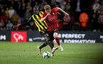 WATFORD, ENGLAND - APRIL 23: Stuart Armstrong(R) of Southampton during the Premier League match between Watford FC and Southampton FC at Vicarage Road on April 23, 2019 in Watford, United Kingdom. (Photo by Matt Watson/Southampton FC via Getty Images)