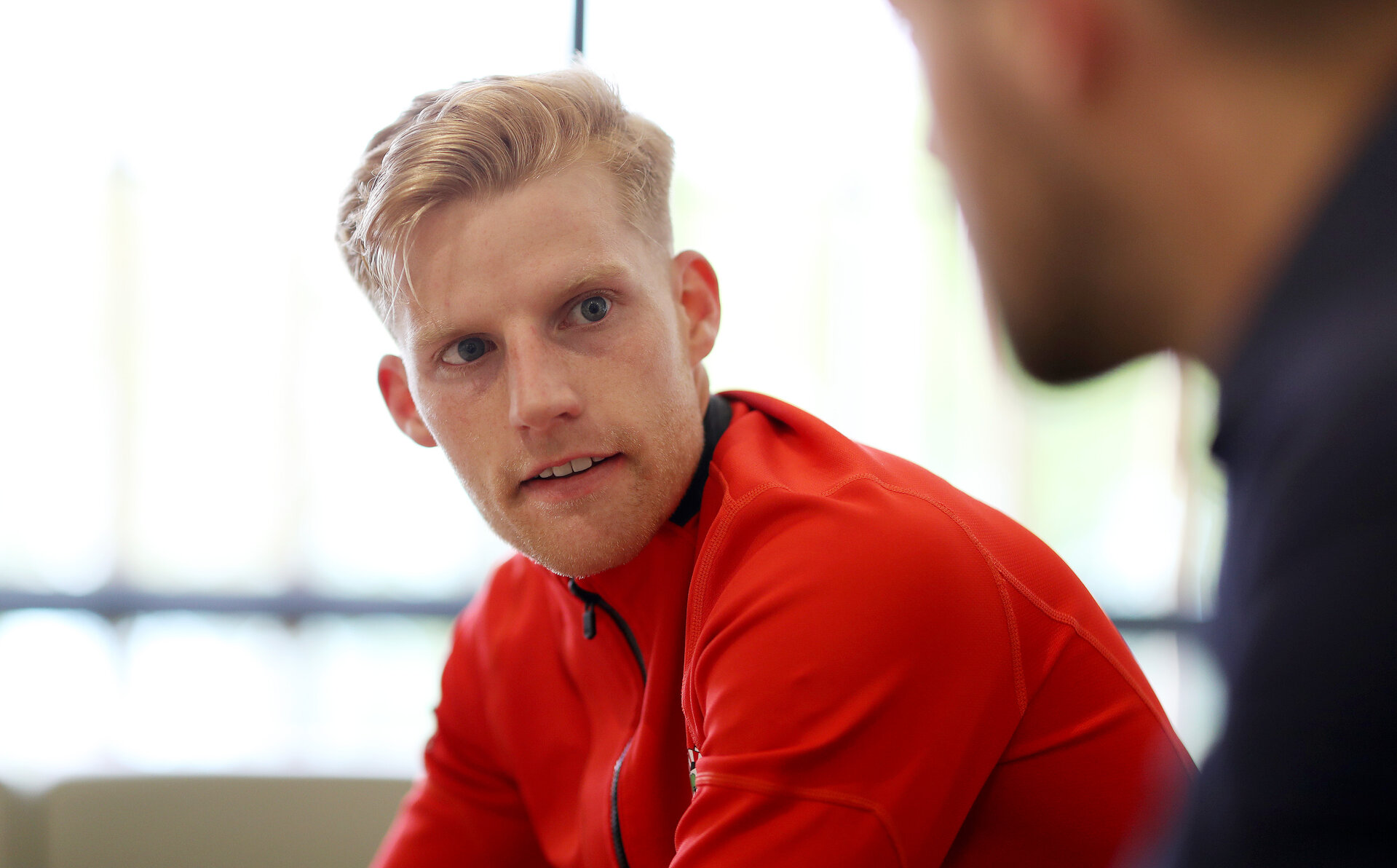SOUTHAMPTON, ENGLAND - APRIL 24: Josh Sims during a photoshoot for the Southampton FC match day magazine at the Staplewood Campus on April 24, 2019 in Southampton, England. (Photo by Matt Watson/Southampton FC via Getty Images)