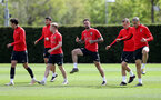 SOUTHAMPTON, ENGLAND - APRIL 25: Danny Ings(centre) during a Southampton FC training session at the Staplewood Campus on April 25, 2019 in Southampton, England. (Photo by Matt Watson/Southampton FC via Getty Images)