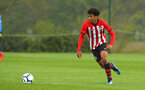 NORWICH, ENGLAND - APRIL 27: Caleb Watts during a U18 Premier League match between Norwich City FC and Southampton FC pictured at Colney Training Ground on April 27, 2019 in Norwich, England. (Photo by James Bridle - Southampton FC/Southampton FC via Getty Images)