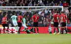 SOUTHAMPTON, ENGLAND - APRIL 27: Nathan Ake of Bournemouth scores during the Premier League match between Southampton FC and AFC Bournemouth at St Mary's Stadium on April 27, 2019 in Southampton, United Kingdom. (Photo by Matt Watson/Southampton FC via Getty Images)