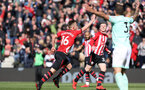SOUTHAMPTON, ENGLAND - APRIL 27: James Ward-Prowse celebrates his goal during the Premier League match between Southampton FC and AFC Bournemouth at St Mary's Stadium on April 27, 2019 in Southampton, United Kingdom. (Photo by Chris Moorhouse/Southampton FC via Getty Images)