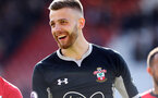SOUTHAMPTON, ENGLAND - APRIL 27: Angus Gunn during the Premier League match between Southampton FC and AFC Bournemouth at St Mary's Stadium on April 27, 2019 in Southampton, United Kingdom. (Photo by Chris Moorhouse/Southampton FC via Getty Images)