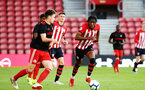 SOUTHAMPTON, ENGLAND - APRIL 29: Dan Nlundulu  (right) during the Premier League 2 match between Southampton FC and Sunderland pictured at St Mary's Stadium on April 29, 2019 in Southampton, England. (Photo by James Bridle - Southampton FC/Southampton FC via Getty Images)