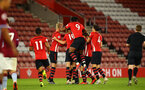 SOUTHAMPTON, ENGLAND - MAY 03: Tom O'Connor  scores from a free kick and players celebrate with him during the U23s PL2 Play off Semi-Final between Southampton FC and Aston Villa FC pictured at St Mary's Stadium on May 03, 2019 in Southampton, England. (Photo by James Bridle - Southampton FC/Southampton FC via Getty Images)