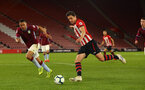 SOUTHAMPTON, ENGLAND - MAY 03: Alfie Jones (right) during the U23s PL2 Play off Semi-Final between Southampton FC and Aston Villa FC pictured at St Mary's Stadium on May 03, 2019 in Southampton, England. (Photo by James Bridle - Southampton FC/Southampton FC via Getty Images)