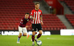 SOUTHAMPTON, ENGLAND - MAY 03: Callum Slattery of Southampton  (middle) during the U23s PL2 Play off Semi-Final between Southampton FC and Aston Villa FC pictured at St Mary's Stadium on May 03, 2019 in Southampton, England. (Photo by James Bridle - Southampton FC/Southampton FC via Getty Images)