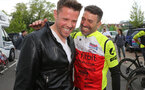 Former Southampton footballer Francis Benali on the third day of his epic IronFran challenge to raise £1m for Cancer Research UK. Franny is taking on 7 Iron Man distance triathlons in 7 days.  surprise visit by former team mate James Beattie