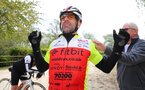 Former Southampton footballer Francis Benali on the third day of his epic IronFran challenge to raise £1m for Cancer Research UK. Franny is taking on 7 Iron Man distance triathlons in 7 days.