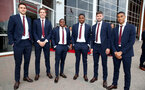 L to R, Alex McCarthy, Sam Gallagher, Michael Obafemi, Kayne Ramsay, Jack Stephens and Yan Valery during the 2018/19 Southampton FC Player Awards night, at St Mary's Stadium, Southampton, 7th May 2019