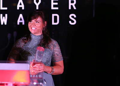 Video: Sievwright's end of season award delight