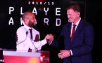 Nathan Redmond(L) and Ralph Hasenhuttl during the 2018/19 Southampton FC Player Awards night, at St Mary's Stadium, Southampton, 7th May 2019